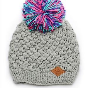 Neff Lexington Pom Gray Beanie Slouchy